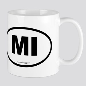 Michigan MI Euro Oval Mug