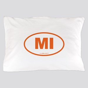 Michigan MI Euro Oval Pillow Case