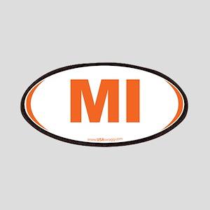 Michigan MI Euro Oval Patch