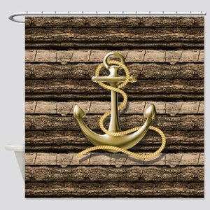 shabby chic vintage anchor Shower Curtain