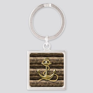 shabby chic vintage anchor Square Keychain