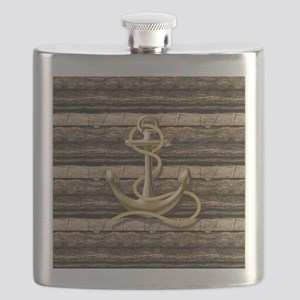shabby chic vintage anchor Flask