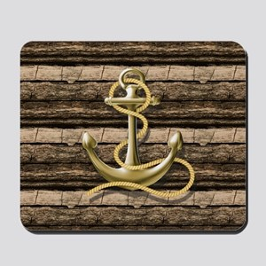 shabby chic vintage anchor Mousepad