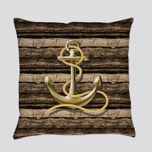 shabby chic vintage anchor Everyday Pillow