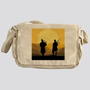 Scottish bagpipe sunset Messenger Bag