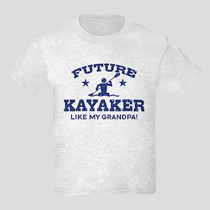 Future Kayaker Like My Grandpa Kids Light T-Shirt