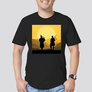 Scottish bagpipe sunset T-Shirt