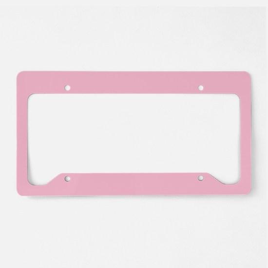 pink college dorm sweet dorm License Plate Holder