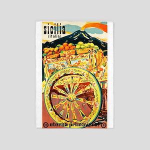 Sicily Italy ~ Mediterranean Travel 5'x7'Area Rug