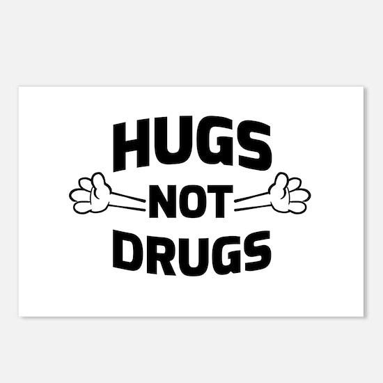 Hugs! Not Drugs Postcards (package Of 8)