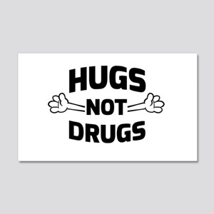 Hugs! Not Drugs Wall Decal