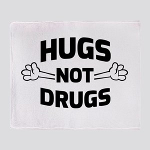 Hugs! Not Drugs Throw Blanket