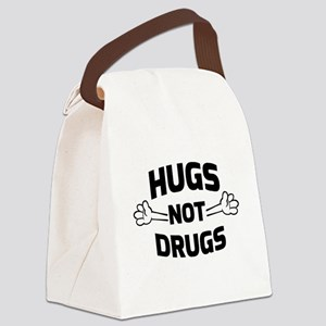 Hugs! Not Drugs Canvas Lunch Bag
