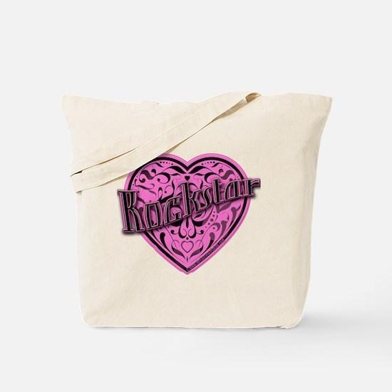 Pink Rockstar Tote Bag