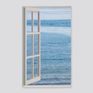 Ocean Scene Window Area Rug