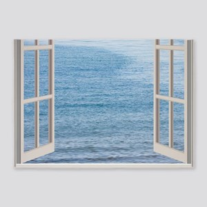 Ocean Scene Window 5'x7'Area Rug