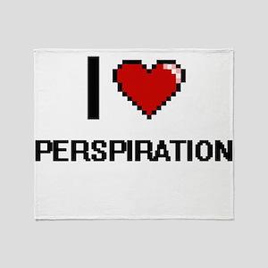 I Love Perspiration Digital Design Throw Blanket