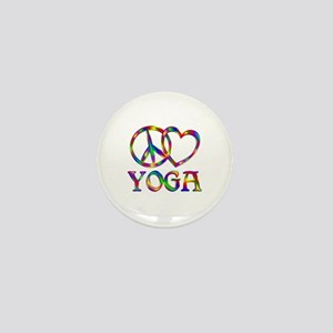 Peace Love Yoga Mini Button (10 pack)