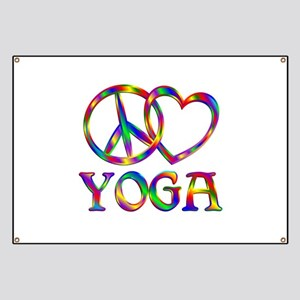 Peace Love Yoga Banner