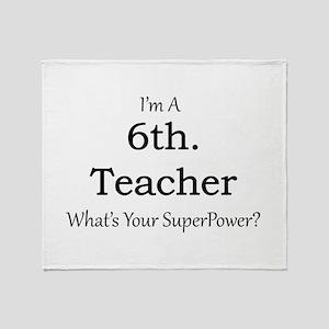 6th. Grade Teacher Throw Blanket