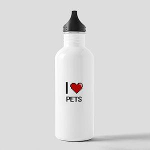 I Love Pets Digital De Stainless Water Bottle 1.0L