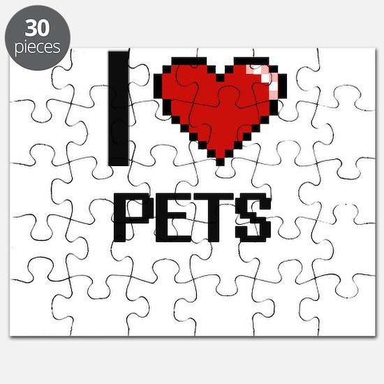 I Love Pets Digital Design Puzzle