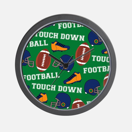 Football Collage Wall Clock