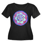 Blue Mandala Plus Size T-Shirt