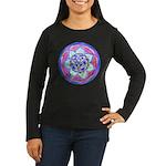 Blue Mandala Long Sleeve T-Shirt