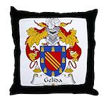 Gelida Family Crest Throw Pillow