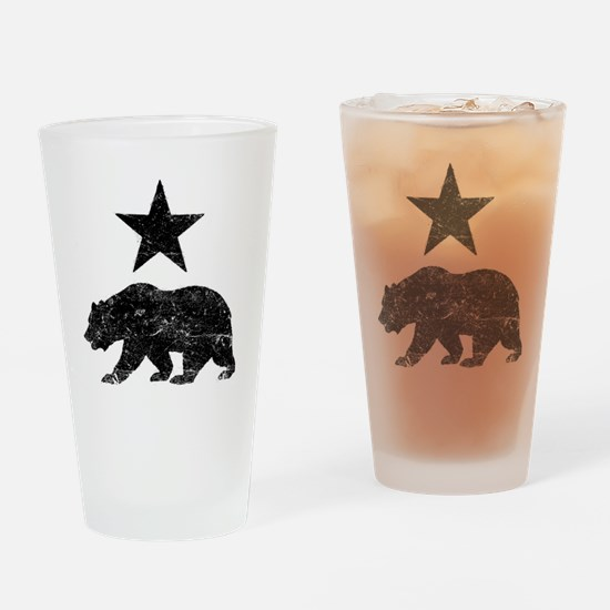 Cute California bear flag Drinking Glass