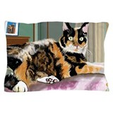 Calico cat lovers Pillow Cases