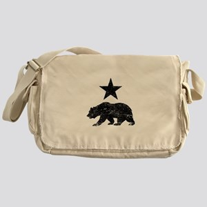 California Republic distressed Bear Messenger Bag