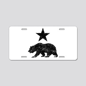 California Republic distres Aluminum License Plate