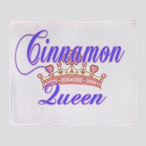 Cinnamon Queen Throw Blanket