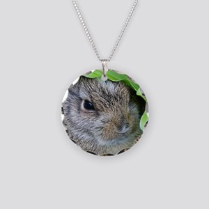 Baby Bunny Necklace Circle Charm