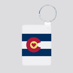 Colorado Love Flag Keychains