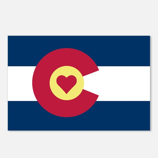 Colorado Love Flag Postcards (Package of 8)