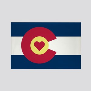 Colorado Love Flag Magnets