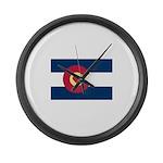 Colorado Love Flag Large Wall Clock