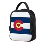 Colorado Love Flag Neoprene Lunch Bag