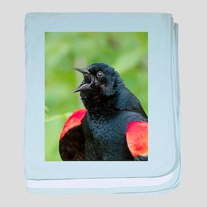 Red-Winged Blackbird baby blanket