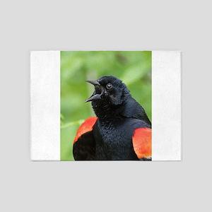 Red-Winged Blackbird 5'x7'Area Rug