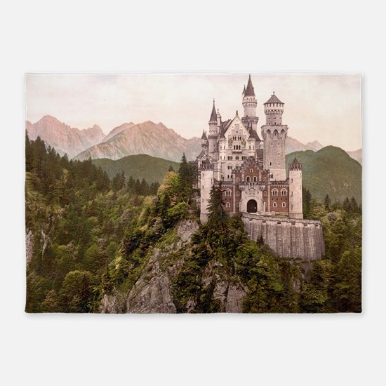 NEUSCHWANSTEIN CASTLE 5'x7'Area Rug