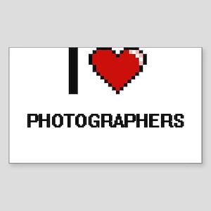 I Love Photographers Digital Design Sticker