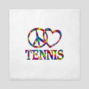Peace Love Tennis Queen Duvet