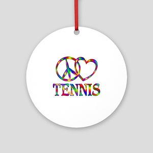 Peace Love Tennis Round Ornament