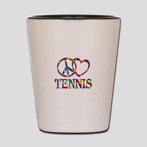 Peace Love Tennis Shot Glass