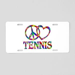 Peace Love Tennis Aluminum License Plate