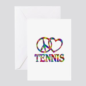 Peace love tennis greeting cards cafepress peace love tennis greeting card m4hsunfo Choice Image